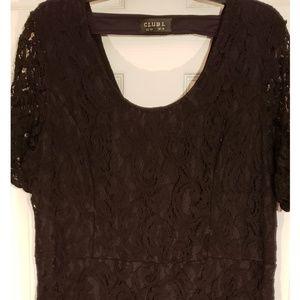 All  black Lace Dress